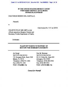 summary judgment standard of review