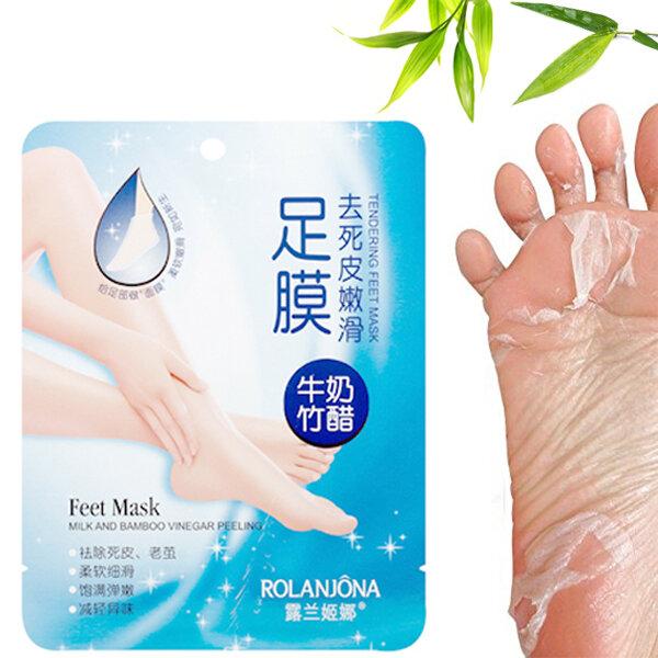 milk and bamboo vinegar peeling & tendering feet mask reviews