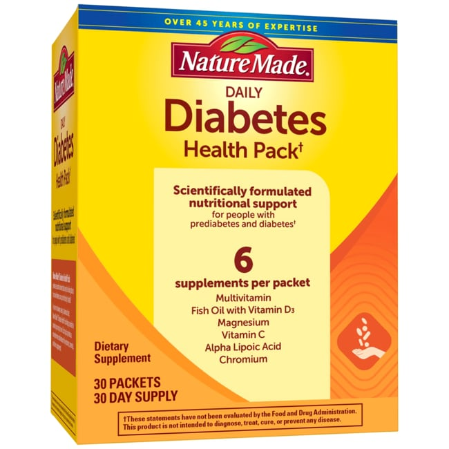 nature made daily diabetes health pack reviews