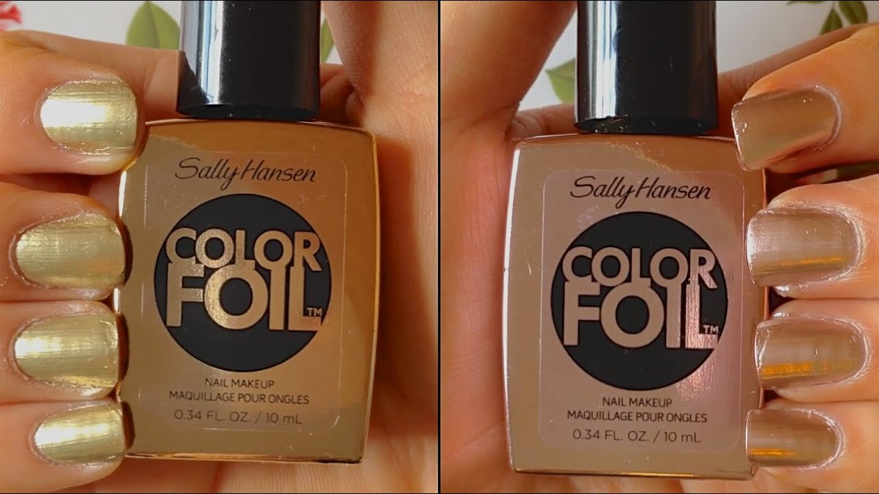 sally hansen color foil review